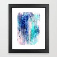 Winter Abstract Acrylic … Framed Art Print