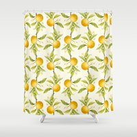 Orange Shower Curtain