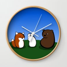 Animal Marshmallow Wall Clock