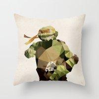 Polygon Heroes - Michela… Throw Pillow
