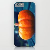 iPhone & iPod Case featuring Park bench pumpkin by Vorona Photography