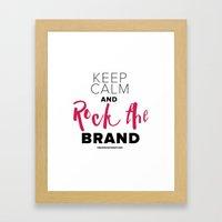 Rock The Brand Framed Art Print