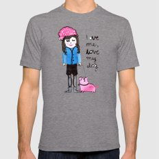 love me Mens Fitted Tee Tri-Grey SMALL