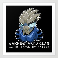 Garrus Vakarian Is My Sp… Art Print