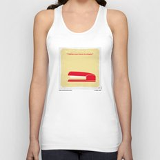 No255 My OFFICE SPACE minimal movie poster Unisex Tank Top
