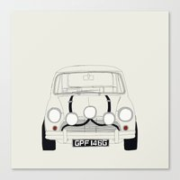 The Italian Job White Mi… Canvas Print