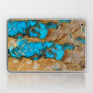Turquoise Gemstone Blue Laptop & iPad Skin