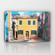 Little Yellow House in Burano Laptop & iPad Skin