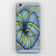 iPhone & iPod Skin featuring Blue And Yellow Zentangl… by Vermont Greetings