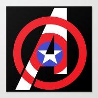 Captain Avenger Canvas Print