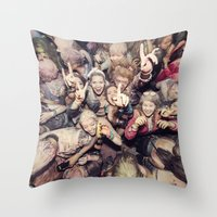 The Throng Throw Pillow