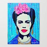 Frida Kahlo,  Happy Frid… Canvas Print