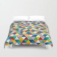 Triangles with Topper Duvet Cover