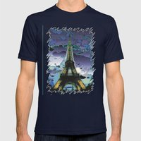 paris Mens Fitted Tee Navy SMALL