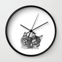 Cats in Love G134 Wall Clock