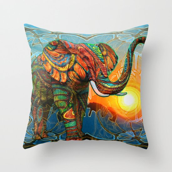 Elephant's Dream Throw Pillow