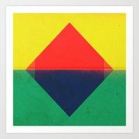 Red Triangle Art Print