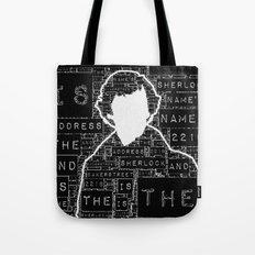 Sherlock BBC: Type Tote Bag