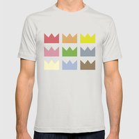 Kings Mens Fitted Tee Silver SMALL
