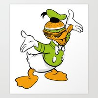 Donald Duckburger Art Print