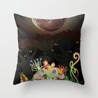 Mini Shrooms Throw Pillow