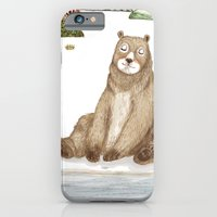 Mr.Brown is chilling by the river. iPhone 6 Slim Case