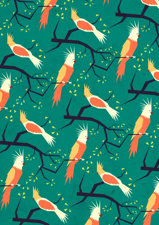 Jolly bird pattern Art Print