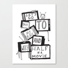 half of a movie Canvas Print