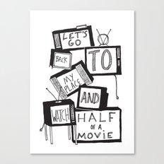 half of a movie Canvas Print