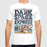 The Dark Space Mens Fitted Tee White SMALL