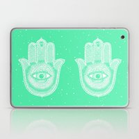Hamsa lucky green Laptop & iPad Skin