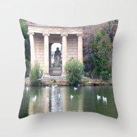 Reflection At Villa Borg… Throw Pillow