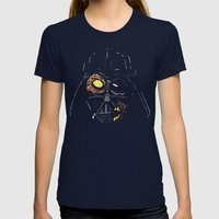 Darth Vader Zombie Womens Fitted Tee Navy SMALL