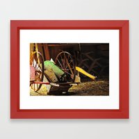 Vintage Farm Hand Cart Framed Art Print