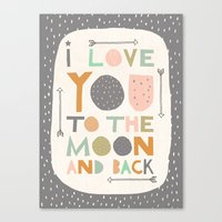 I Love You To The Moon A… Canvas Print