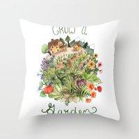Grow A Garden Throw Pillow