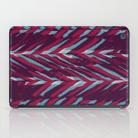 Pink and Blue Painterly Chevrons iPad Case
