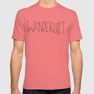 Wanderlust: Rainier Cree… Mens Fitted Tee Pomegranate SMALL