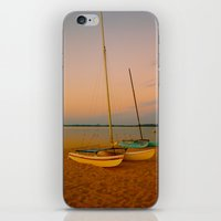 Two Boats at Sunset iPhone & iPod Skin