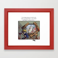 My plans mean nothing Framed Art Print