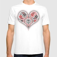 83 Drops - Hearts (Red &… Mens Fitted Tee White SMALL
