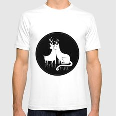 Panther & Mishka White SMALL Mens Fitted Tee