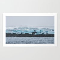 Black Sand & Ice Art Print