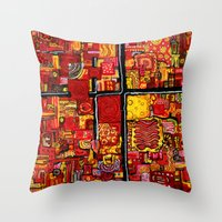 Ketchup and Mustard Throw Pillow