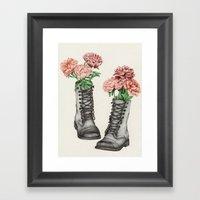 Shoe Bouquet III Framed Art Print