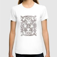 Tibetan Flower Womens Fitted Tee White SMALL