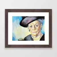 Portrait Of Maggie Smith… Framed Art Print