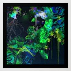 watercolor garden  Art Print