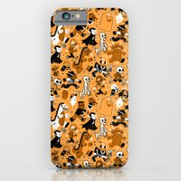 iPhone & iPod Case featuring Monster March (Orange) by Mike Laughead