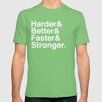 Harder, Better, Faster, Stronger. (Daft Punk) Mens Fitted Tee Grass SMALL